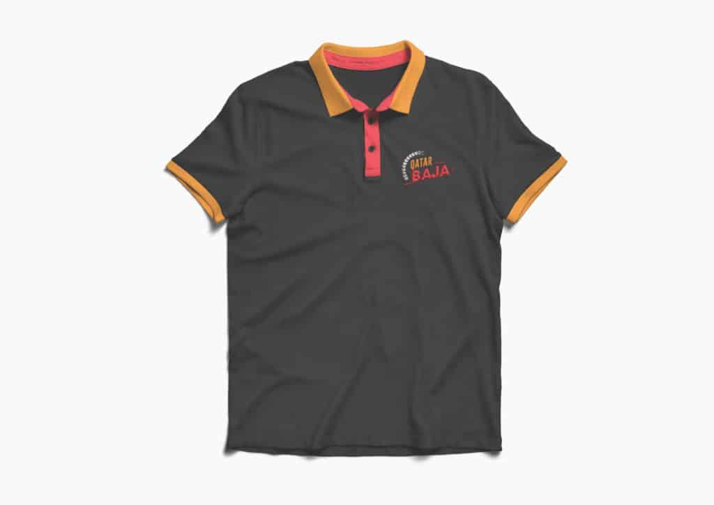 Qatar Baja Tshirt design presentation