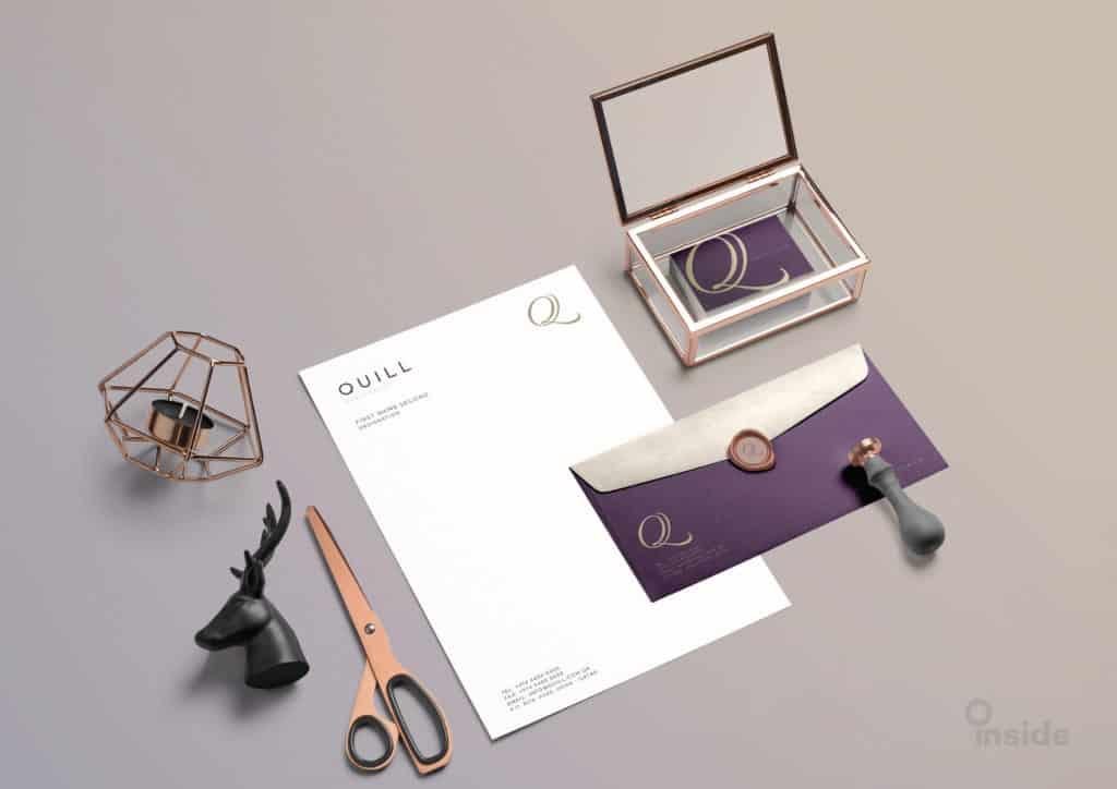 Quill Branding presentation purple