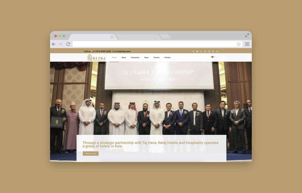 Retaj Group Website