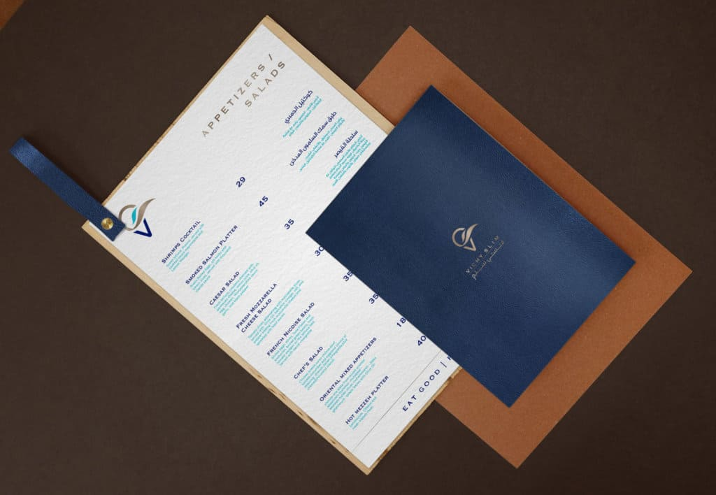 Vichy Slim menu design presentation